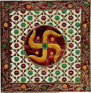 Meenakari-Indian-Painting-Handmade-Floral-Hindu-Symbol-Jaipur-Minakari-Decor-Art