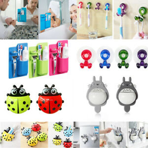 Wall-Mounted-Sucker-Toothbrush-Holder-Suction-Cup-Organizer-Bathroom-Accessories