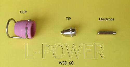 28Pcs Plasma Pilot Arc Tips 1.2mm Cutting Torch Nozzle for AG-60 SG-55 WSD-60