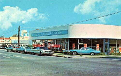 ca 1967 Pensacola Photo Fred Drake Chrysler-Plymouth Auto Dealership Florida