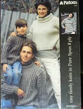 Patons knitting pattern leaflet no.411 Easy family in pure spun 8ply