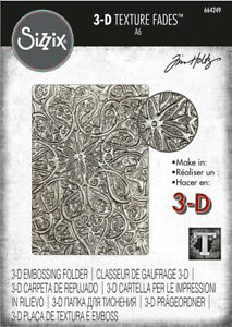 Sizzix 3-D Texture Fades Embossing Folder 664249 Engraved by Tim Holtz
