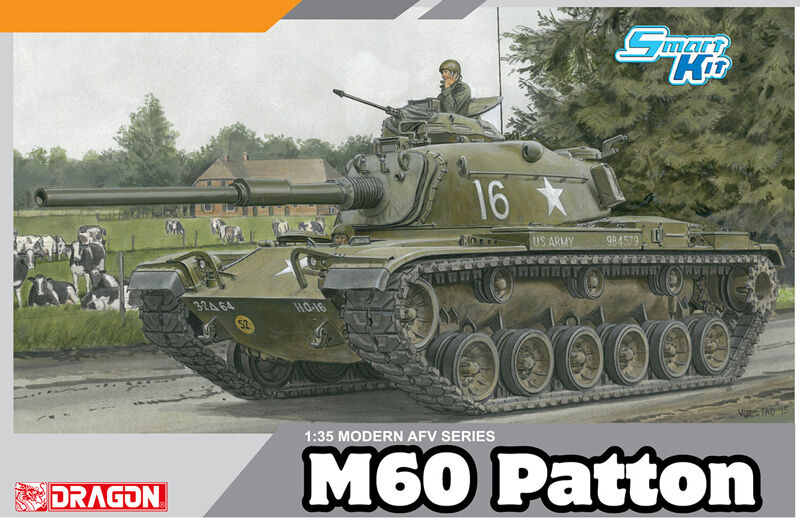 M60 PATTON U.S.ARMY TANK DRAGON 1 35 PLASTIC KIT