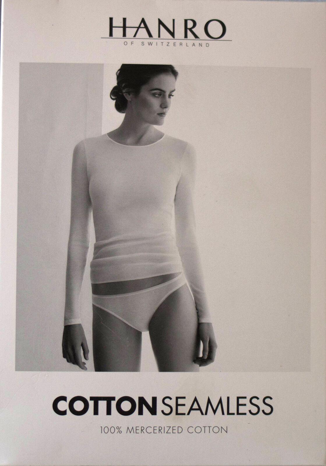 NEUF @@ T SHIRT M.L 100% COTON black HANRO Cotton Seamless + XS (FR36 38-34 36eur