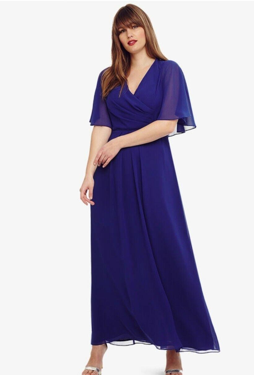 CL18  STUDIO-Eight Opal Maxi Bridesmaid Kleid COBALT Blau Größe UK 22