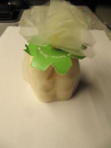 Seife, 3 Sücke in Kleeblattform in einem Säckchen, Jasmin-Duft - Wildeshausen, Deutschland - Seife, 3 Sücke in Kleeblattform in einem Säckchen, Jasmin-Duft - Wildeshausen, Deutschland