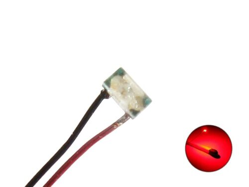 S511-10 Stück SMD LED 0402 rot mit Draht Kupferlackdraht Chip micro LEDs mini