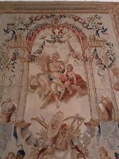 Beautiful 100% Wool Tuscan Tapestry Wall Hanging With Goddess & Cherubs NWT
