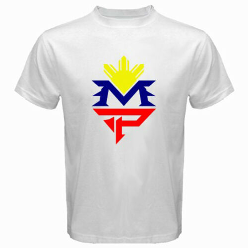 New Manny Pacquiao Pinoy Boxing Champion Men/'s White T-Shirt Size S-3XL