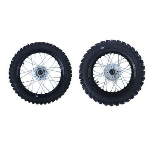 12 HMParts Dirt Cross Pit Bike Alu Felgen SET Eloxiert 12