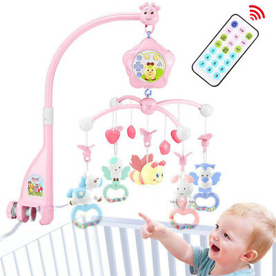 Baby Crib Mobile With Lights And Music Remote Toy For Pack And Play Newborn Gift Fashionable And Attractive Packages