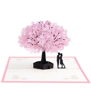 3d pop up cards cherry blossoms lovers greeting card christmas image is loading 3d pop up cards cherry blossoms lovers greeting m4hsunfo