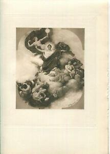 ANTIQUE-ARTISTIC-NUDE-WOMAN-ALLEGORY-MASK-FIRST-COURT-TRIBUNAL-OF-APPEAL-PRINT