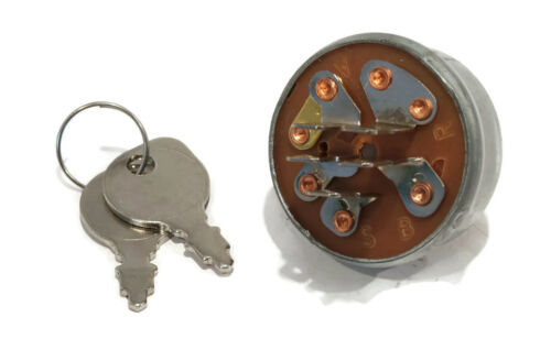 New IGNITION KEY SWITCH /& 2 Keys fit Toro E141 GT2500 SB371 SB421 SK486 Tractors