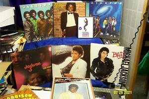 MICHAEL JACKSON & THE JACKSON 5 - 6 LP LOT w. THRILLER, BAD, OFF THE WALL & DVD
