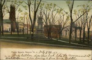 Newton-NJ-Public-Square-c1905-Postcard