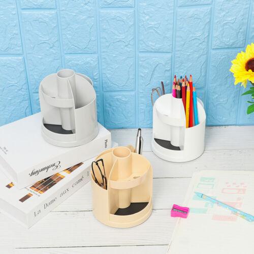 Multi Grid Pen Holder Organizer Desk Storage Stationery Rotatable Pen Box