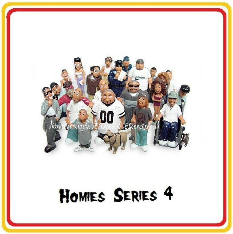 Homies Series 4 -  24 different different different figures,  great for 1 32 dioramas HTF ( loose ) fe8ea4