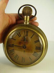 Analytisch Antike übergroße Taschenuhr Als Wecker Um 1920 Mit Einem LangjäHrigen Ruf