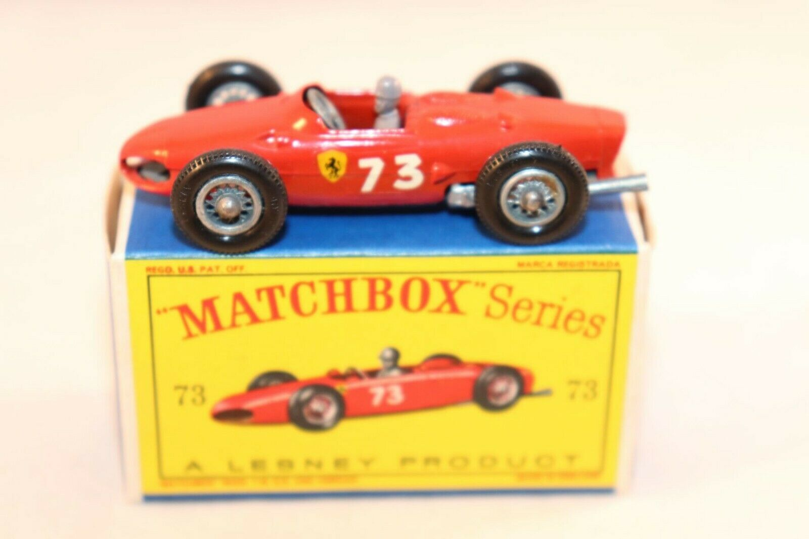 Matchbox Lesney No 73 Ferrari Racing Car mint in box all original condition