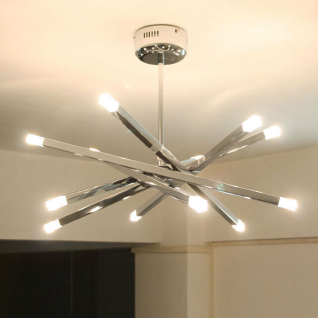 12 lights modern chrome rod star pendant lamp ceiling hanging 12 lights modern chrome rod star led pendant lamp ceiling hanging chandelier aloadofball Choice Image