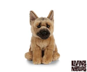 LIVING Nature pastore tedesco-AN455 alsaziano Dog Morbido Peluche