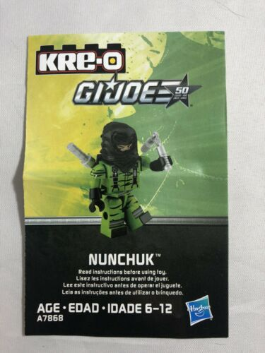 Nunchuk KRE-O Series 3 Minifigure GI Joe Kreo Kreon