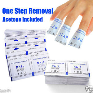 Gel-Nail-Polish-Removers-Removal-Wraps-Acetone-Pads-Foil-Art-Cleaner-100-200-Pcs