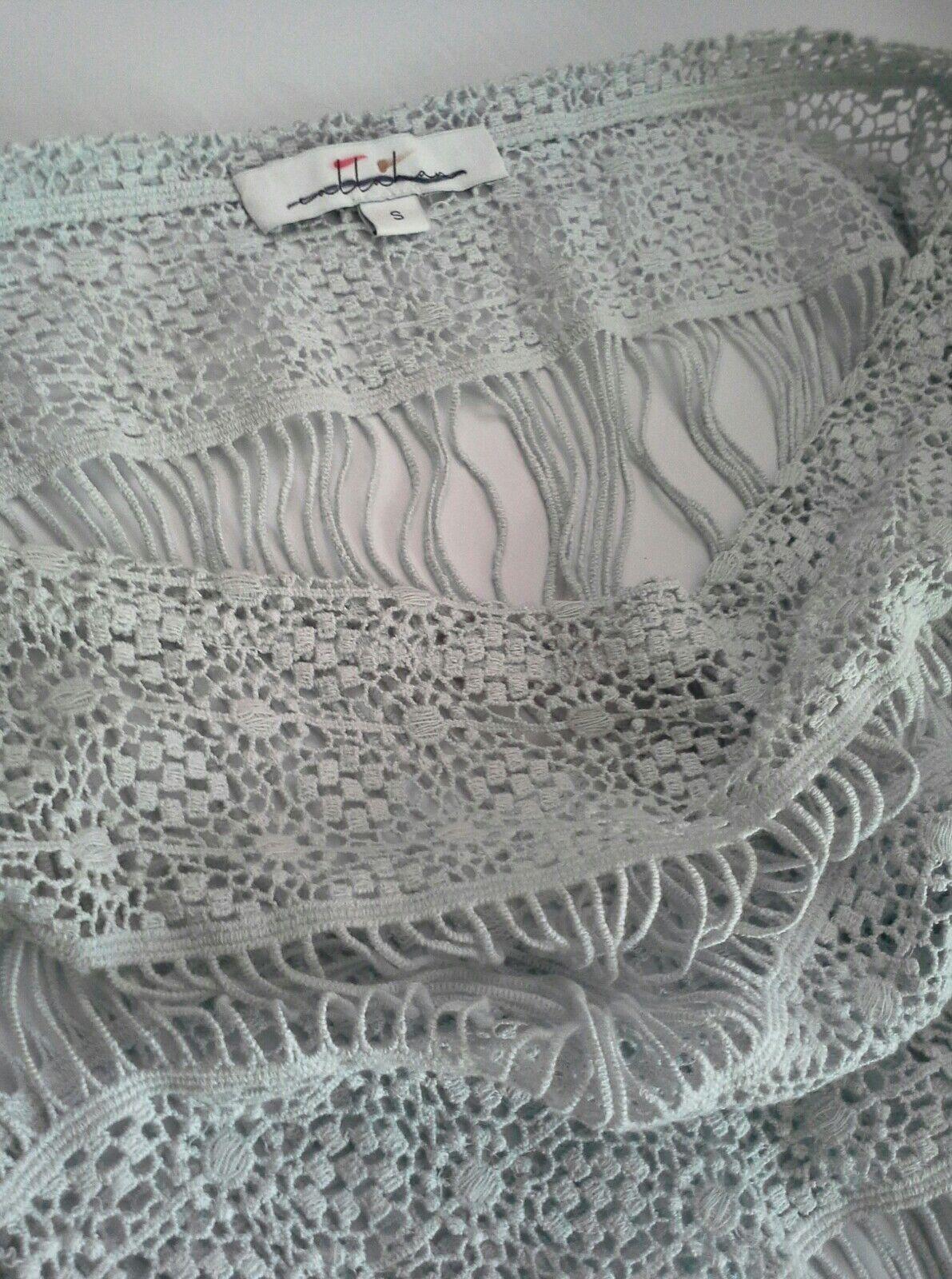 3b0c3843e58d ... Anthropologie Amelia Crocheted Crocheted Crocheted Maxi Dress by  Callahan Light Greyish bluee SMALL 46cdba ...