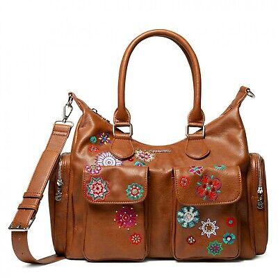 Desigual Bols Rep Nanit London Brown, Women's Bag Handbag with Handles | eBay