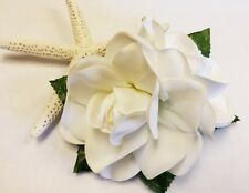 Made In Hawaii Ladies Hawaiian White Gardenia Flower Luau Party Hula Hair clip