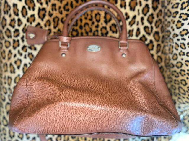 Medium Brown Leather Coach Purse NR
