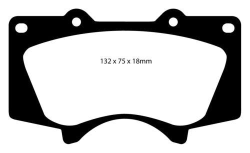USA EBC Blackstuff Bremsbeläge Vorderachse DP1657 für Toyota Tundra