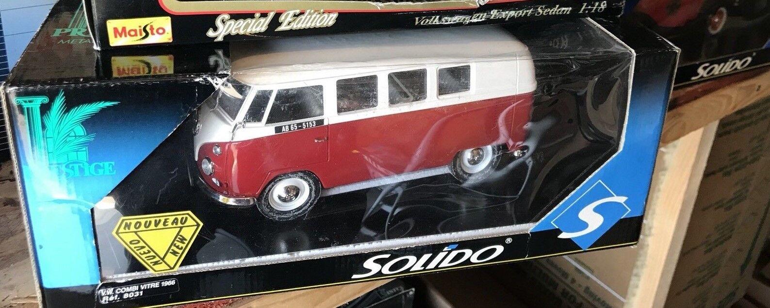 Solido VW COMBI VITRE 1966  18 DIE CAST MIB