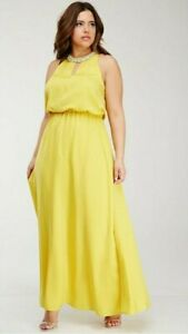 a6f4c0a1c73 Image is loading FOREVER-21-Yellow-Rhinestone-Embellished-Long-Maxi-Dress-
