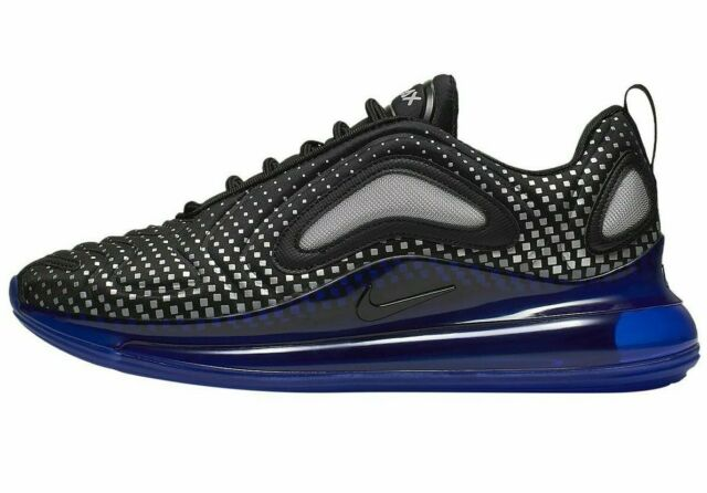 Nike Men's Air Max 720 Shoes NEW AUTHENTIC Black/Blue/Silver AO2924-013