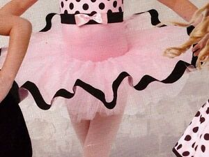 NWOT Dance Costume Tutu Pink Black Ribbon Small child Wolff Fording