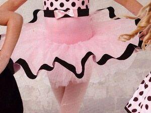 NWOT Dance Costume Tutu Pink Black Ribbon Small child Wolff Fording