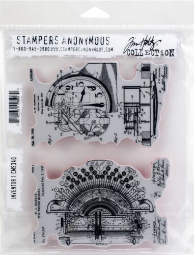 """Tim Holtz Cling Stamps 7/""""X8.5/""""-Inventor 1"""