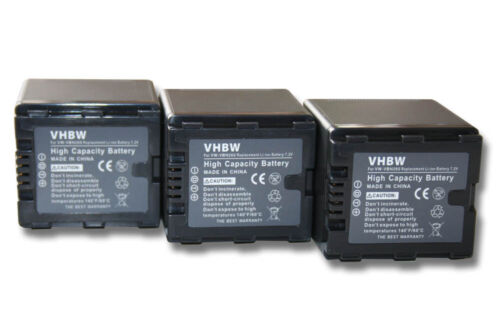 3x BATTERY for PANASONIC VW-VBN260 HC-X900 HC-X900M