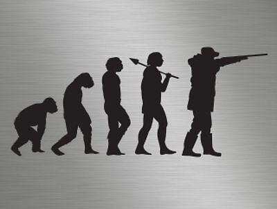 Evolution hunting shooting cerf lapin vinyle fenêtre stickers autocollants van camper