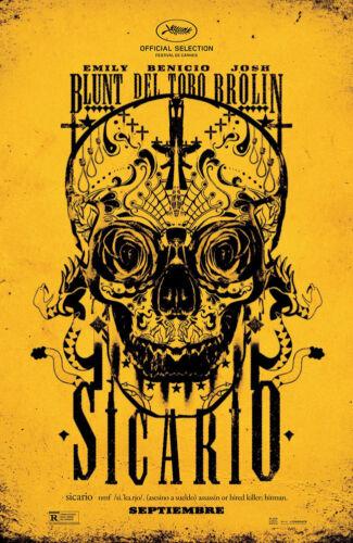 "Movie Poster - 24/""x36/"" Sugar Skull Sicario - - Free S//H"