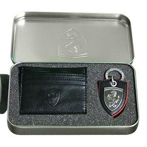 35e1d29ea La imagen se está cargando Hombre-Puma-Ferrari-Llavero-Y-Billetera -Portatarjetas-Conjunto-
