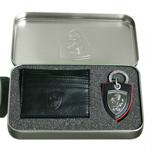 59eaae3a11c93 Men s Puma Ferrari Key Ring and Wallet Card Holder Gift Set Unique Present  Black