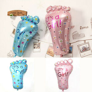 garcon-belle-fille-pieds-ballon-de-douche-Baby-Shower-ballons-decoration-BB