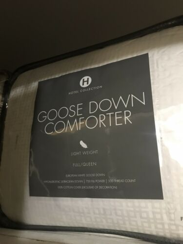 New!Hotel Collection European Goose Down Lightweight F/QUEEN Comforter $600