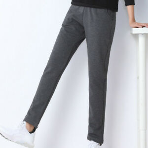 Lady-Winter-Pants-Fleece-Lining-Warm-Thick-Sports-Trousers-Tracksuit-Baggy-Solid