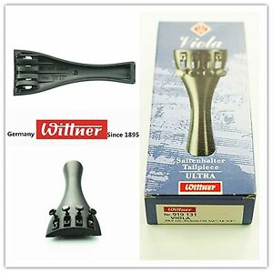 Wittner 3//4 Violin Ultra Composite Tailpiece with 4-tuners and Nylon Tailgut