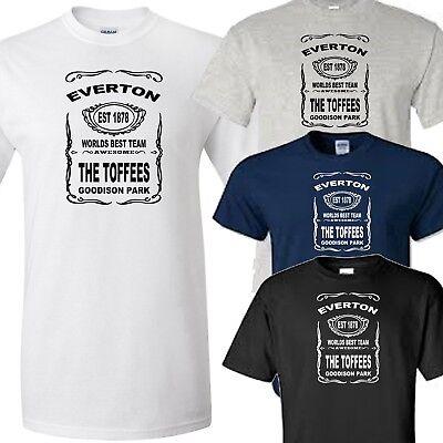 Everton Goodison 1920 Short Sleeve Polo Shirt Tee Top Football Sports Navy Mens