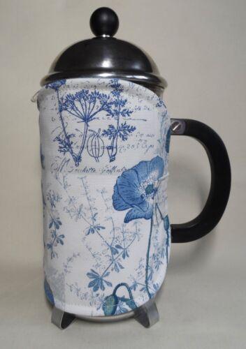Cotton fabrics 8 cup. Handmade cafetiere cosy//coffee cosy New design